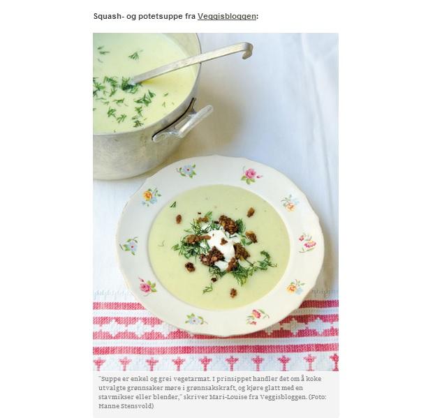 squash- og potetsuppe